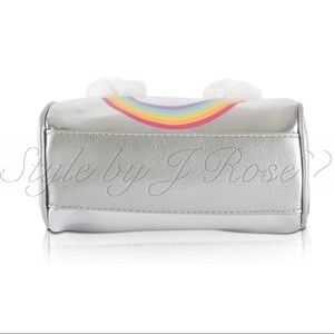 Betsey Johnson Bags - NWT's Betsey Johnson Silver Rainbow Crossbody